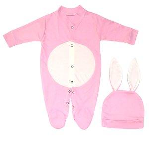 ست سرهمی و کلاه نوزادی دخترانه طرح خرگوش کد M209