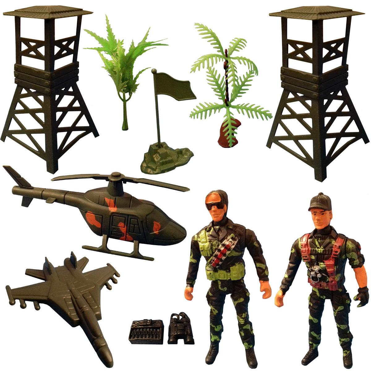 اسباب بازی جنگی مدل سرباز کد SOL2 مجموعه 11 عددی