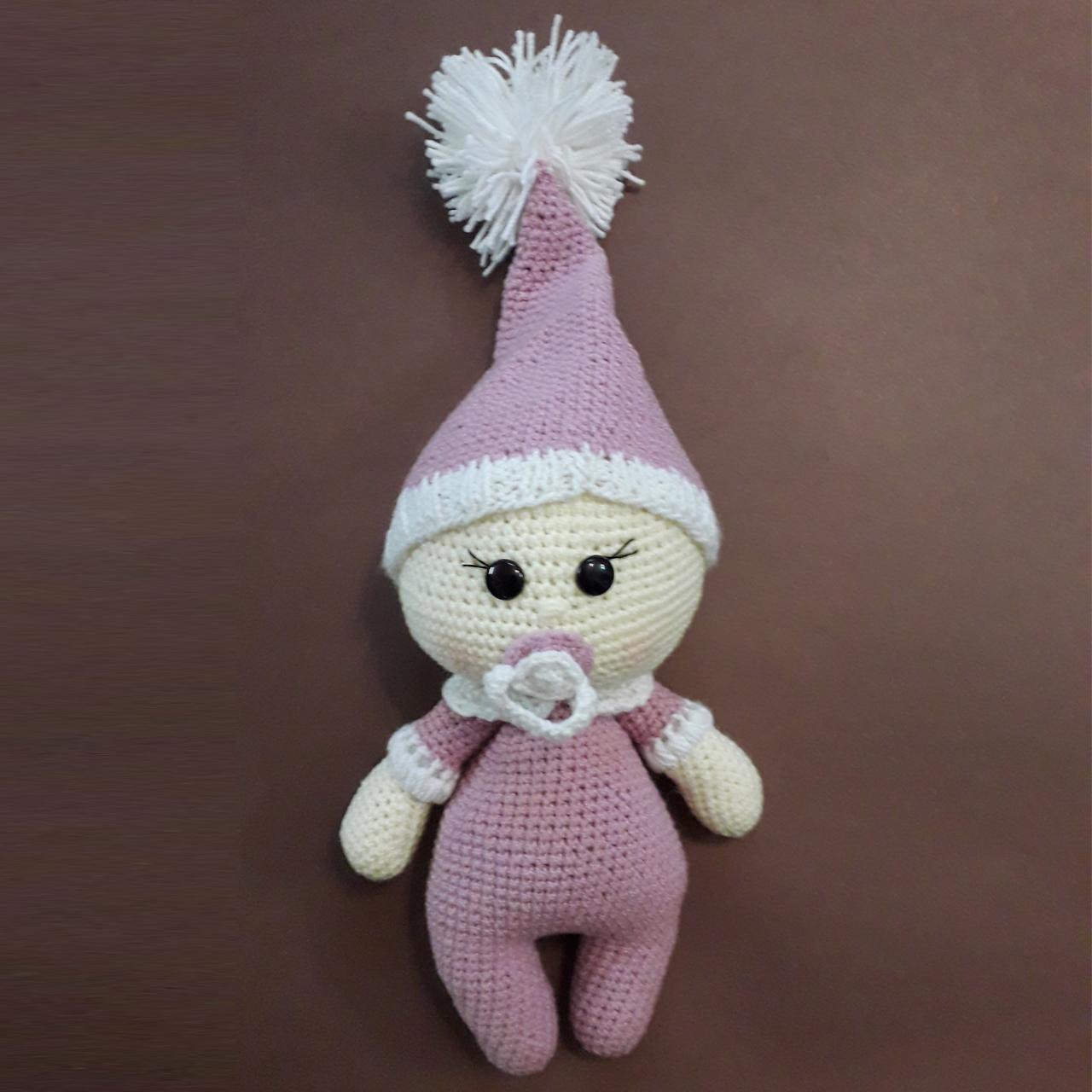 خرید                       عروسک بافتنی طرح نوزاد کد 0112