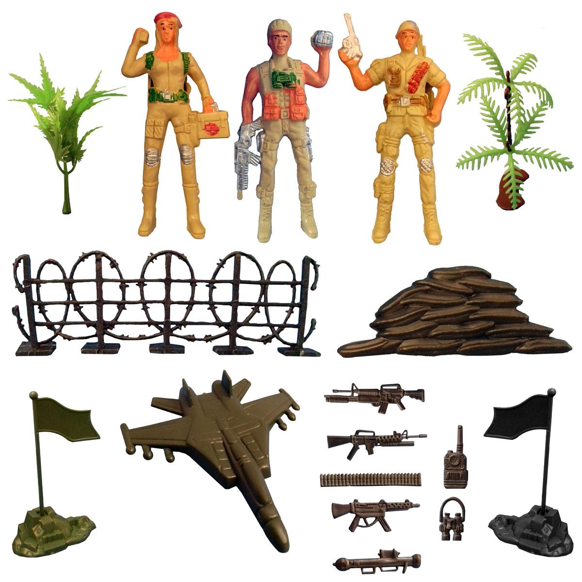 اسباب بازی جنگی مدل سرباز کد SOL3 مجموعه 17 عددی