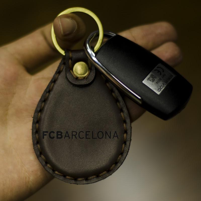 جاکلیدی چرمینه اسپرت طرح بارسلونا کد 3003