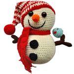 عروسک بافتنی طرح آدم برفی کد 0113