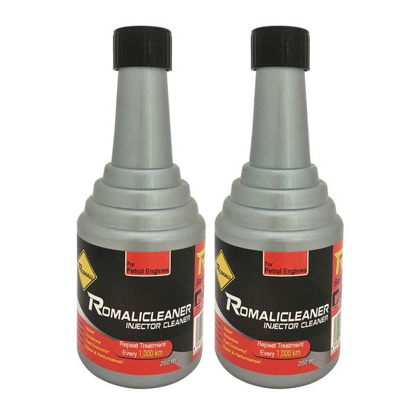 مکمل تمیز کننده سیستم سوخت خودرو رومالی مدل Romalicleaner حجم 250 میلی لیتر بسته 2 عددی