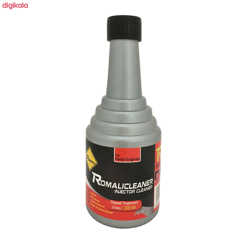 مکمل تمیز کننده سیستم سوخت خودرو رومالی مدل Romalicleaner حجم 250 میلی لیتر بسته 6 عددی main 1 1