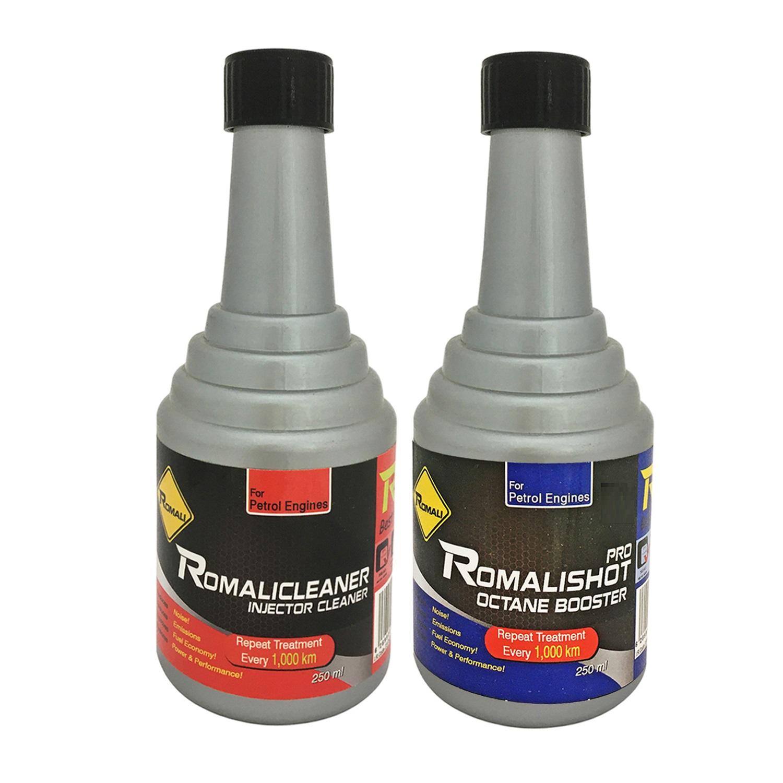 مکمل سوخت خودرو رومالی کد 2206 به همراه مکمل تمیز کننده سیستم سوخت خودرو