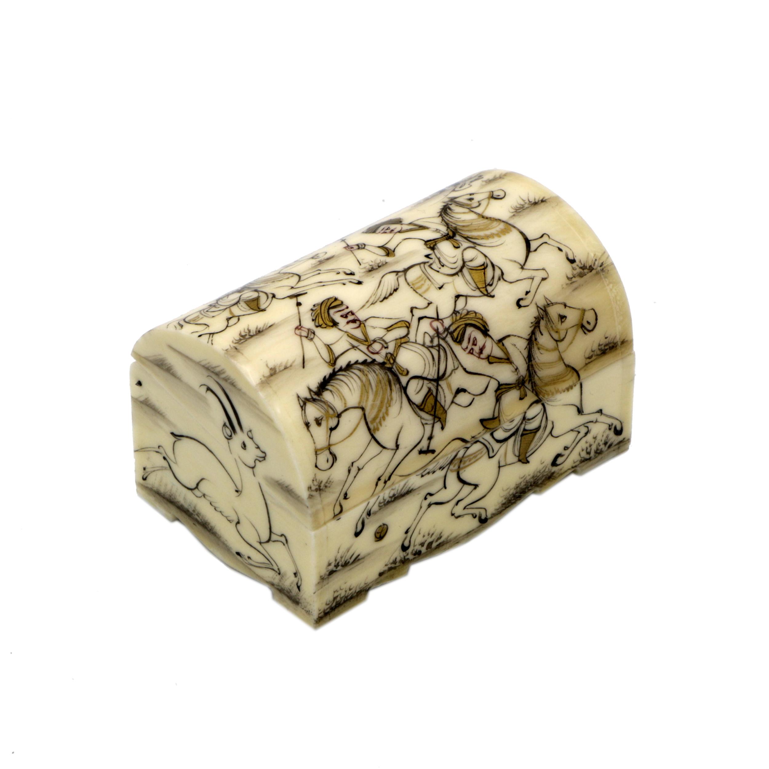 جعبه جواهرات استخوانی طرح چوگان کد m8