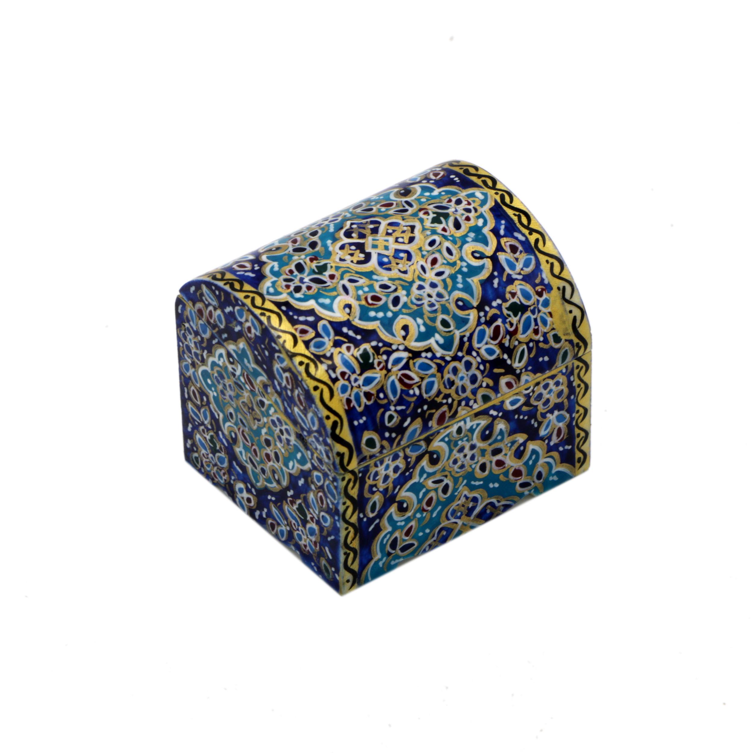 جعبه جواهرات استخوانی طرح اسلیمی کد m10