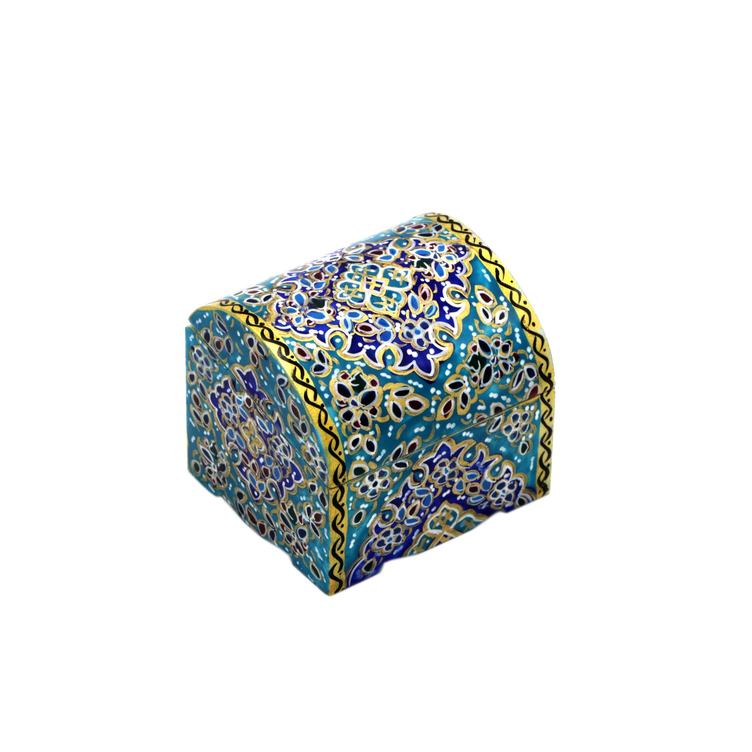 جعبه جواهرات استخوانی طرح اسلیمی کد m11