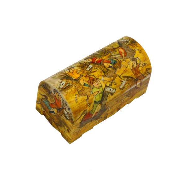 جعبه جواهرات استخوانی طرح چوگان کد m18
