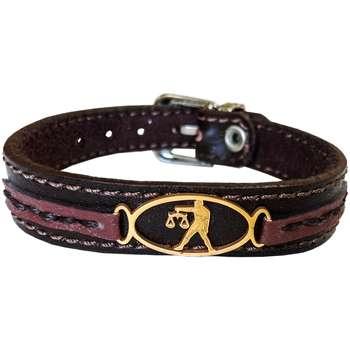 دستبند چرم وارک طرح نماد ماه مهر مدل پرهام کد rb66