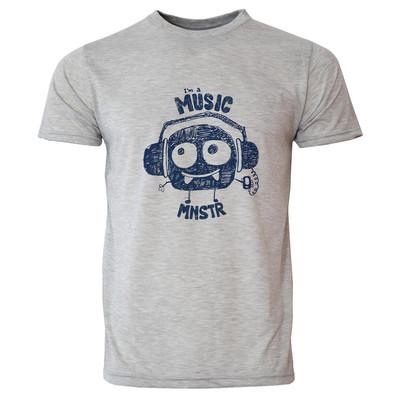 تصویر تی شرت آستین کوتاه مردانه طرح موسیقی دوست کد 20008