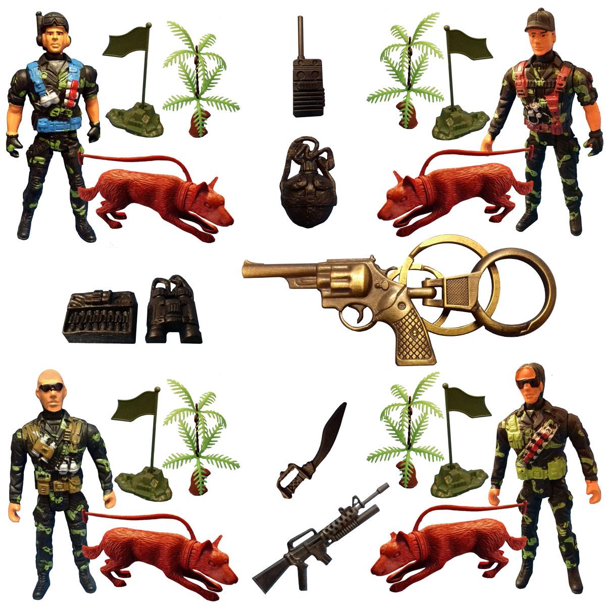 اسباب بازی جنگی مدل سرباز کد SOL6 مجموعه 23 عددی