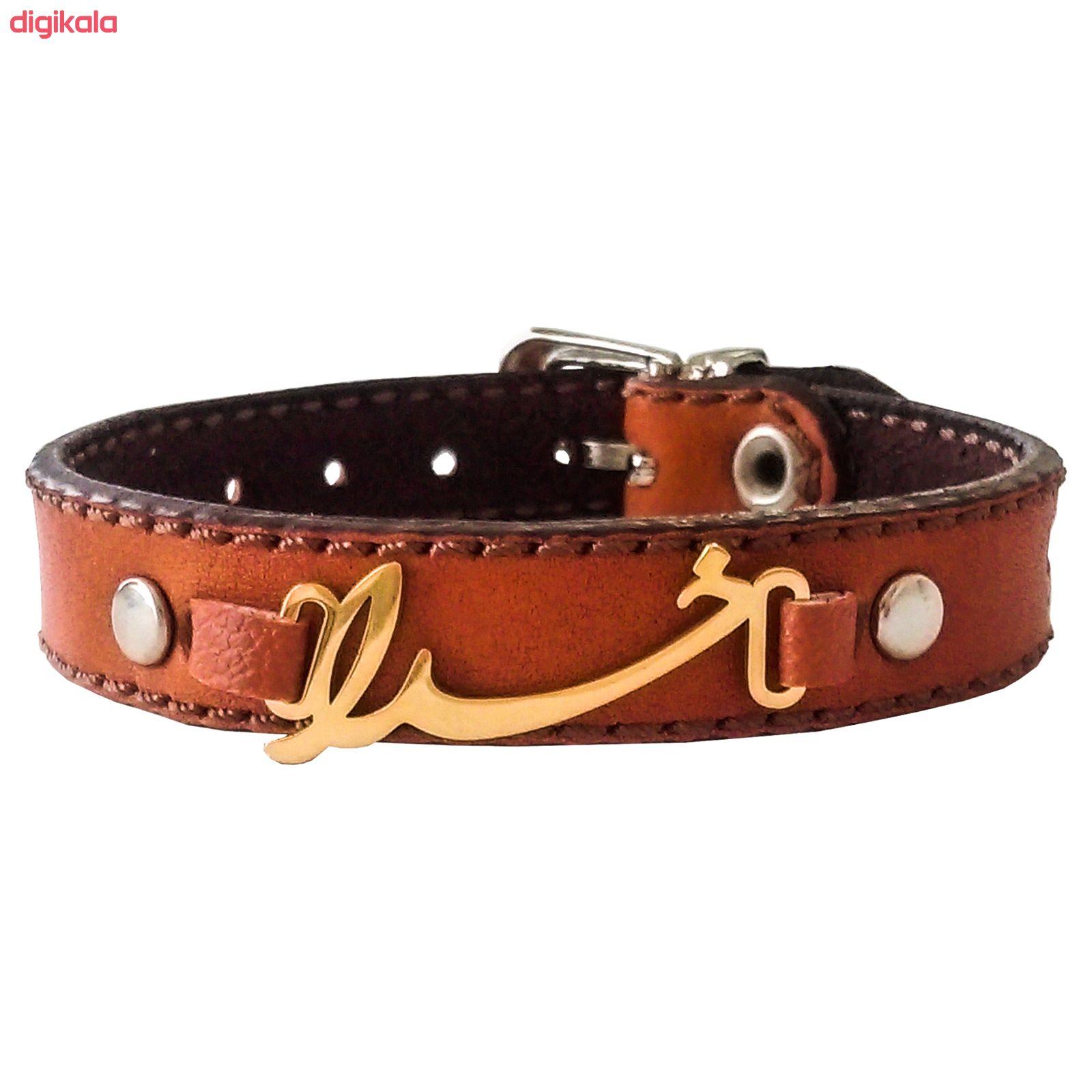 دستبند چرم وارک طرح خدا مدل پرهام کد rb50 main 1 4
