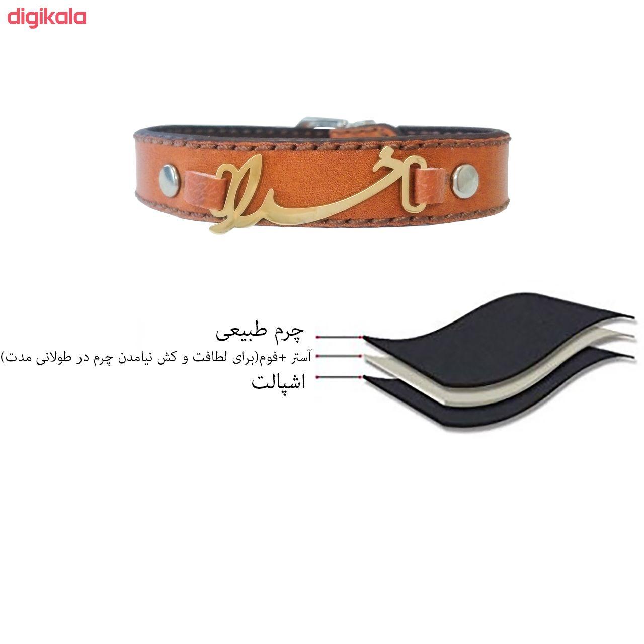 دستبند چرم وارک طرح خدا مدل پرهام کد rb50 main 1 13