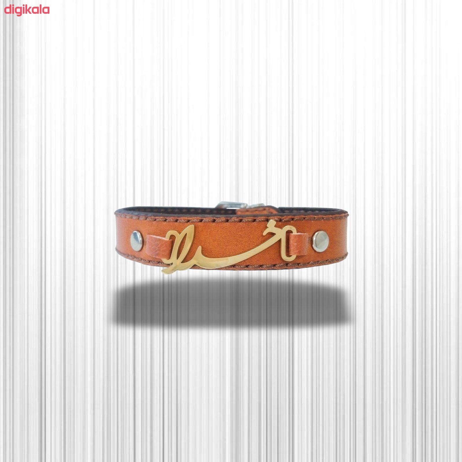 دستبند چرم وارک طرح خدا مدل پرهام کد rb50 main 1 5