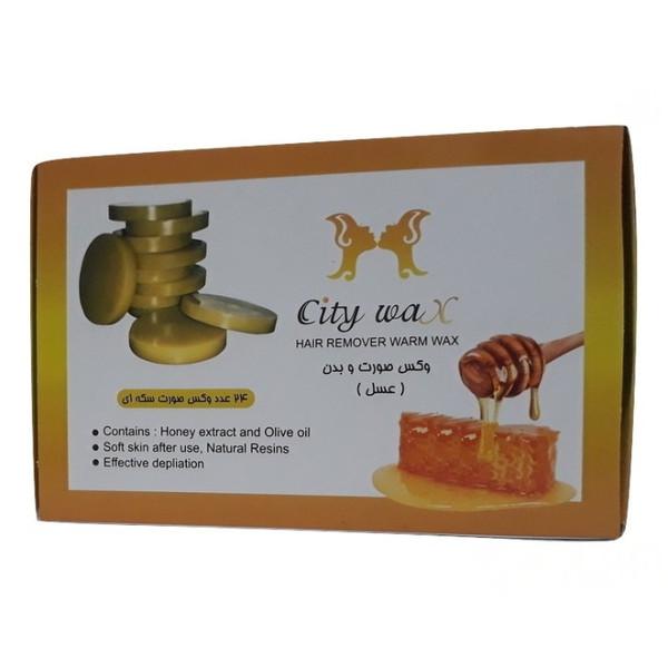 وکس موبر سیتی وکس مدل عسل وزن 500 گرم بسته 24 عددی