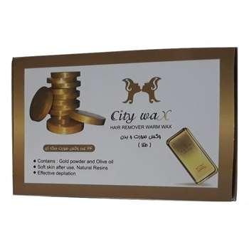 وکس موبر سیتی وکس مدل طلا وزن 500 گرم بسته 24 عددی