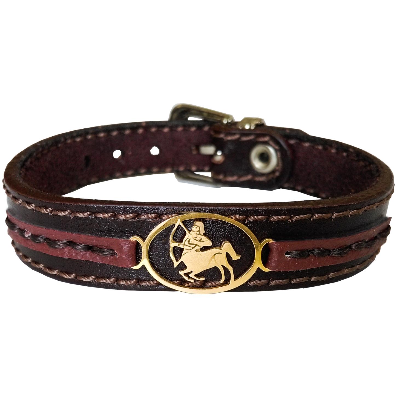 دستبند چرم وارک طرح نماد آذر مدل پرهام کد rb71