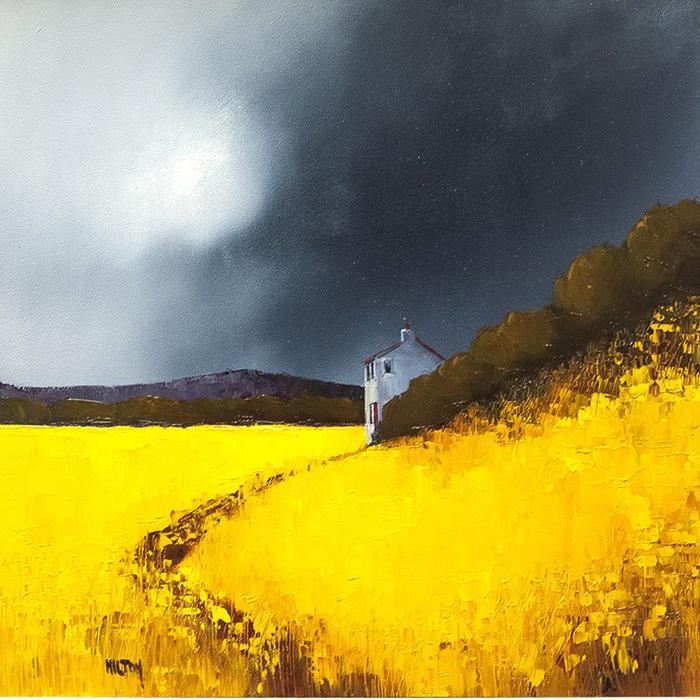 تابلو نقاشی رنگ روغن طرح مزرعه کد 1015