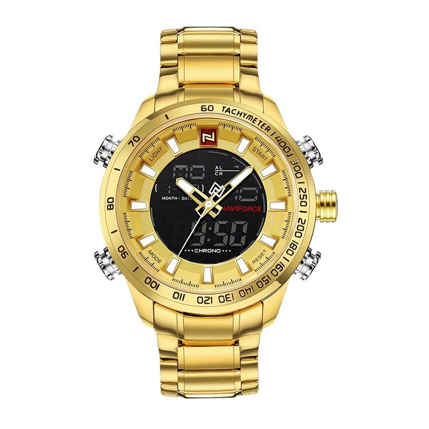 کد تخفیف                                      ساعت مچی عقربه ای مردانه نیوی فورس مدل NF9093 GG