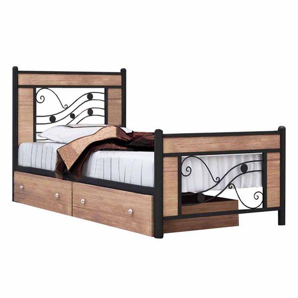 تخت خواب یک نفره کد SH01 سایز 90x200 سانتیمتر