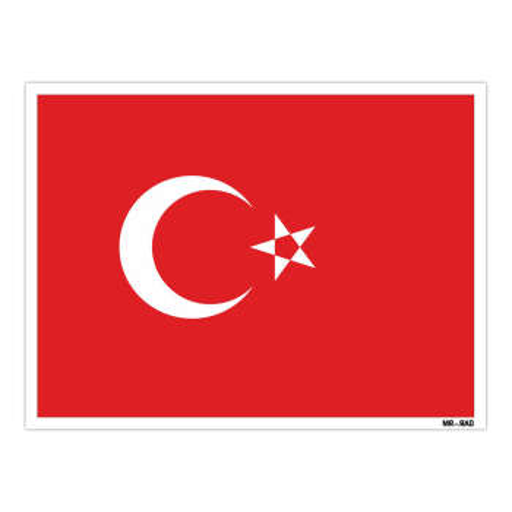 استیکر مستر راد طرح پرچم ترکیه مدل HSE 229