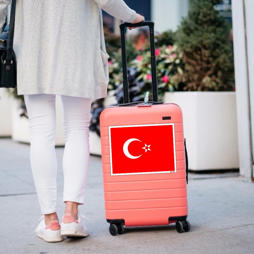 استیکر فراگراف FG طرح پرچم ترکیه مدل HSE 229