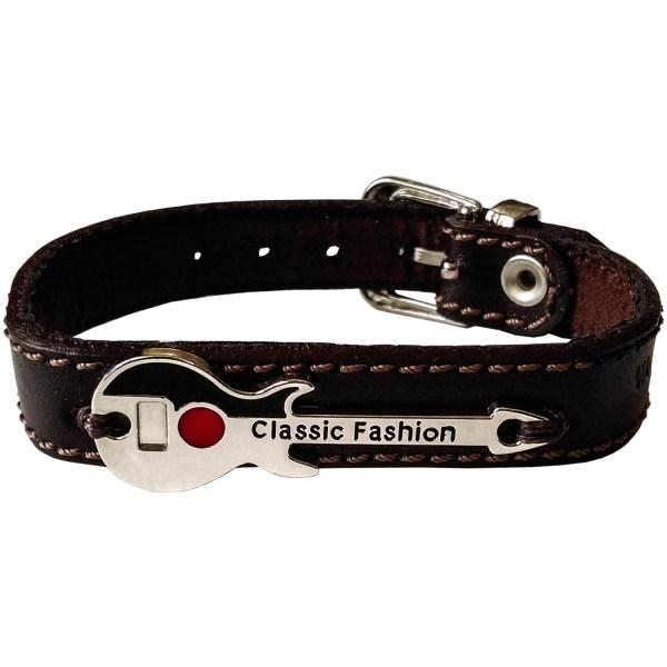 دستبند چرم وارک طرح گیتار مدل پرهام کد rb77