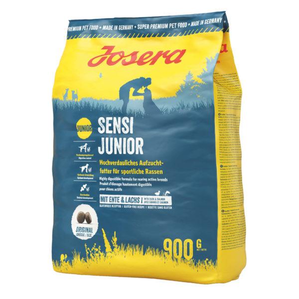غذای خشک سگ جوسرا مدل junior sensi junior وزن ۹۰۰ گرم