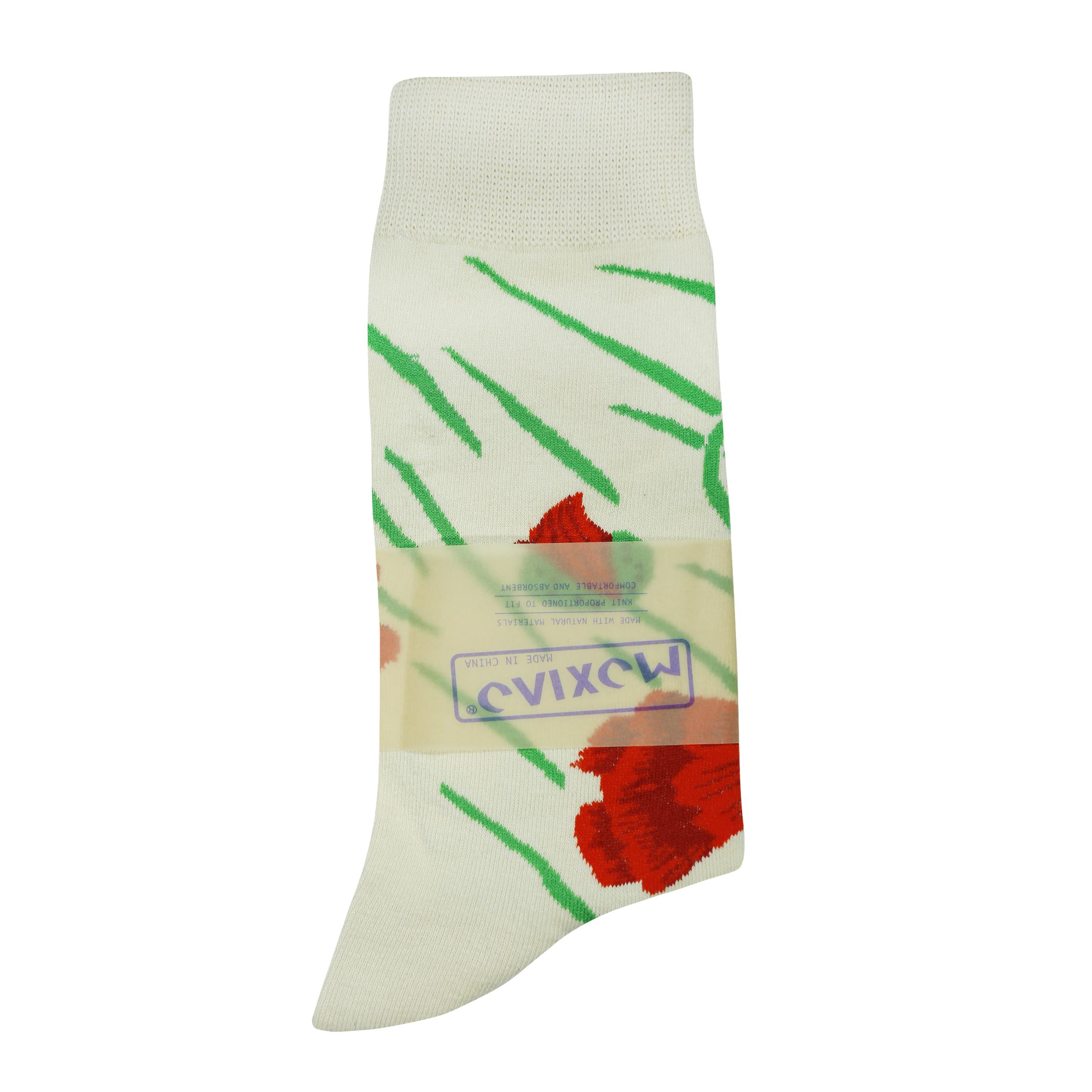 جوراب زنانه طرح گل کد EL-165