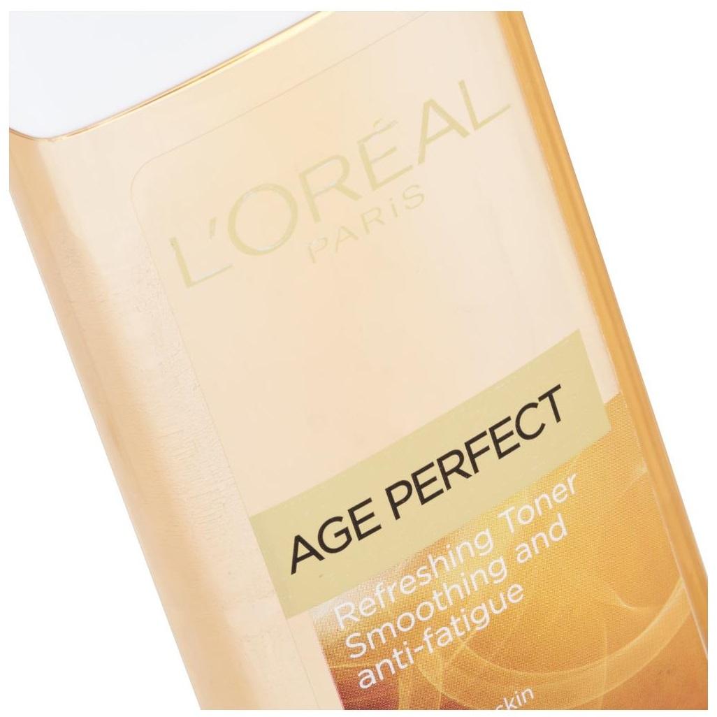 تونر پاک کننده و شاداب کننده پوست لورآل مدل Age Perfect حجم 200 میلی لیتر