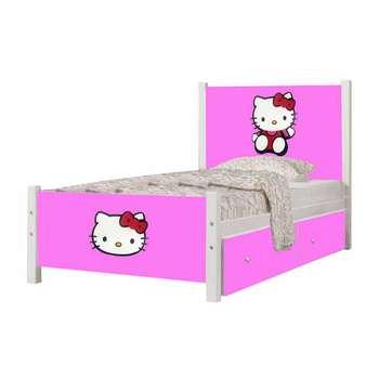 تخت خواب یک نفره طرح کیتی کد SP04 سایز 90x200 سانتیمتر