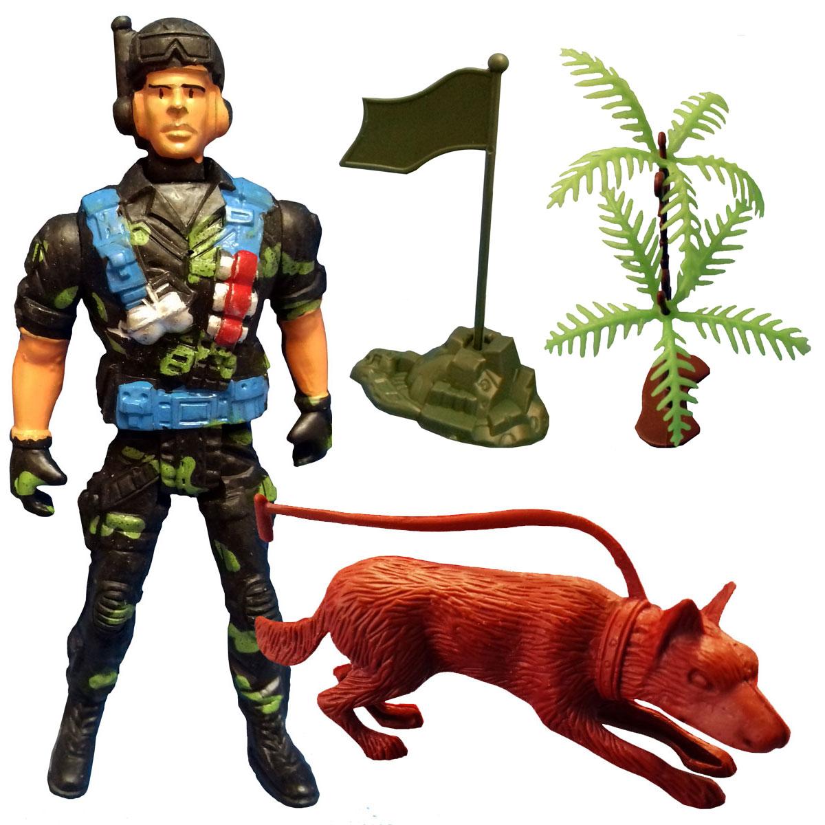 اسباب بازی جنگی مدل سرباز کد SOL7 مجموعه 4 عددی