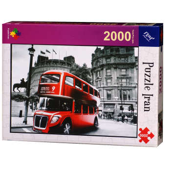 پازل 2000 تکه ایران پازل طرح Red Bus