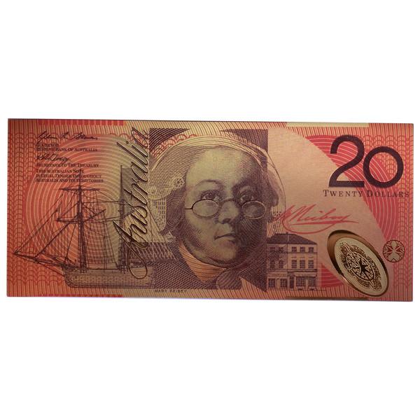 اسکناس تزیینی طرح ۲۰ دلار استرالیا