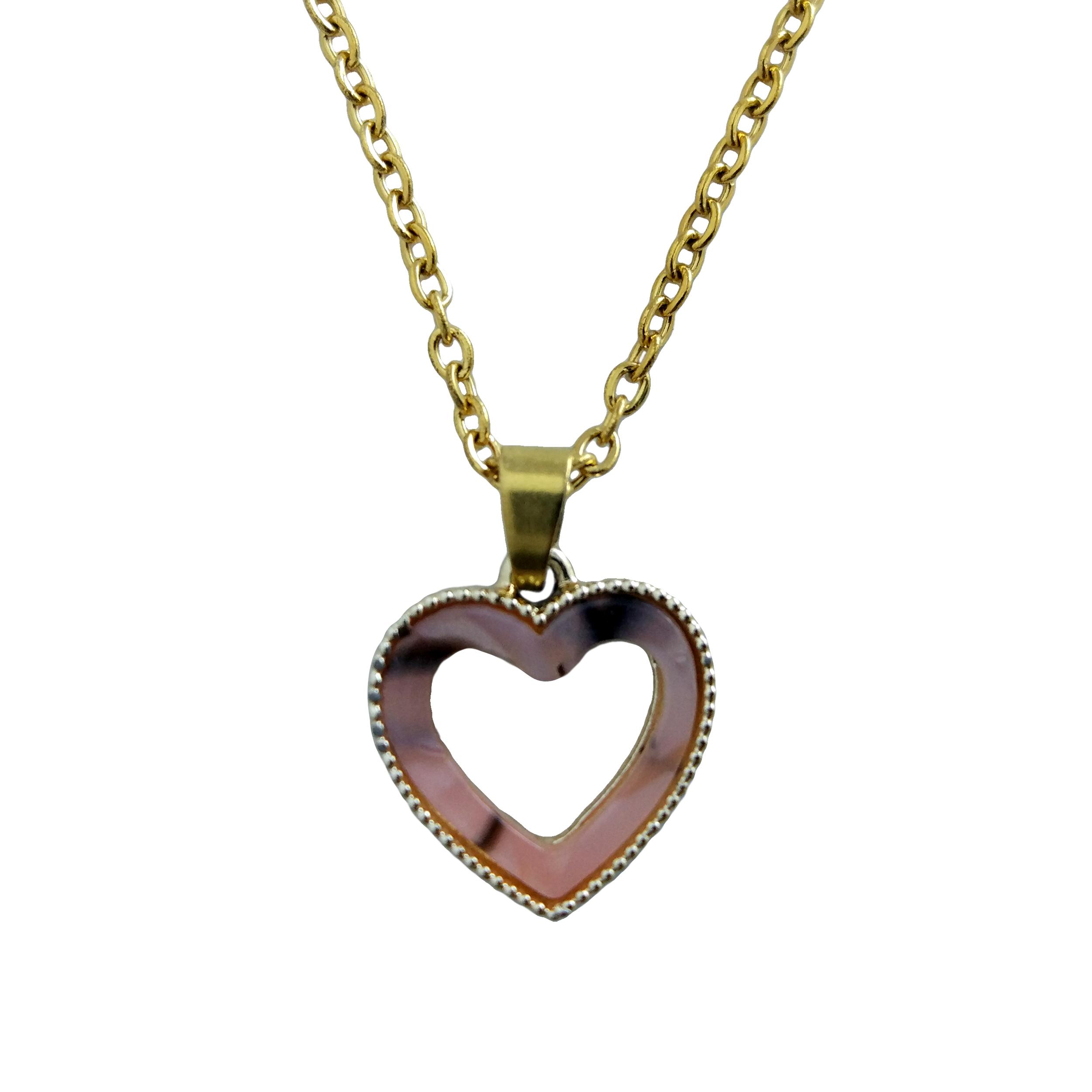 گردنبند دخترانه طرح قلب کد 045