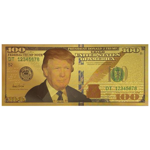 اسکناس تزیینی طرح ۱۰۰ دلاری دونالد ترامپ
