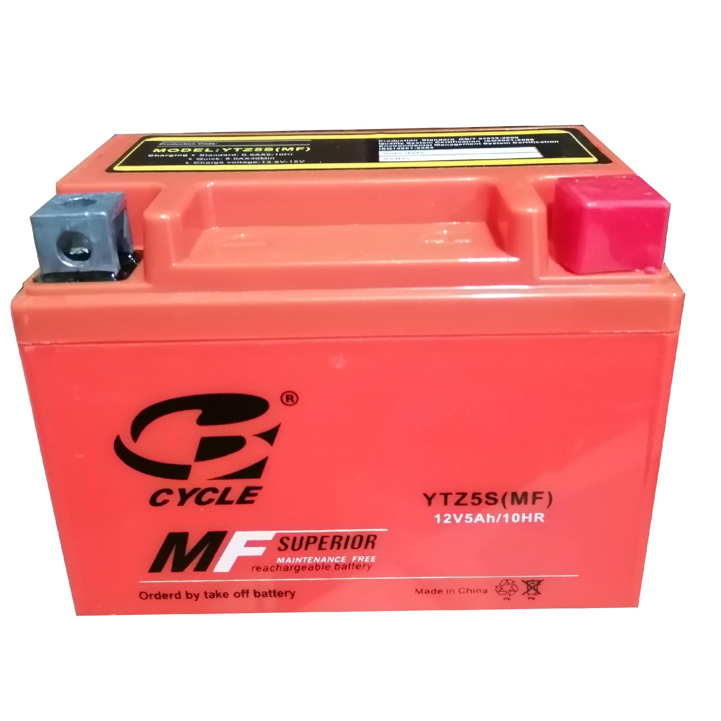 باتری موتور سیکلت سایکل مدل YTZ5S-MF