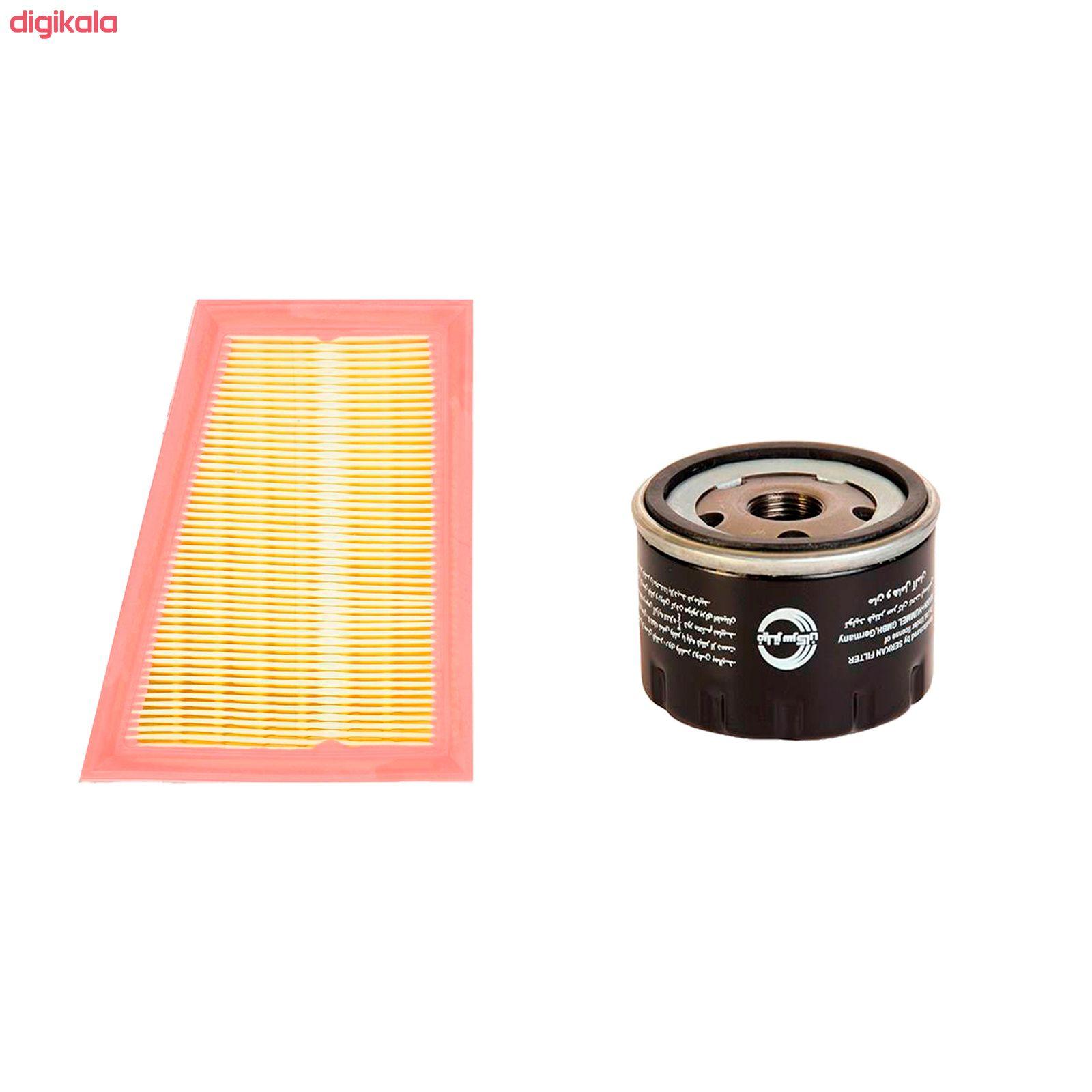 فیلتر روغن خودرو سرکان مدل SF7798 مناسب برای تندر90 به همراه فیلتر هوا main 1 1