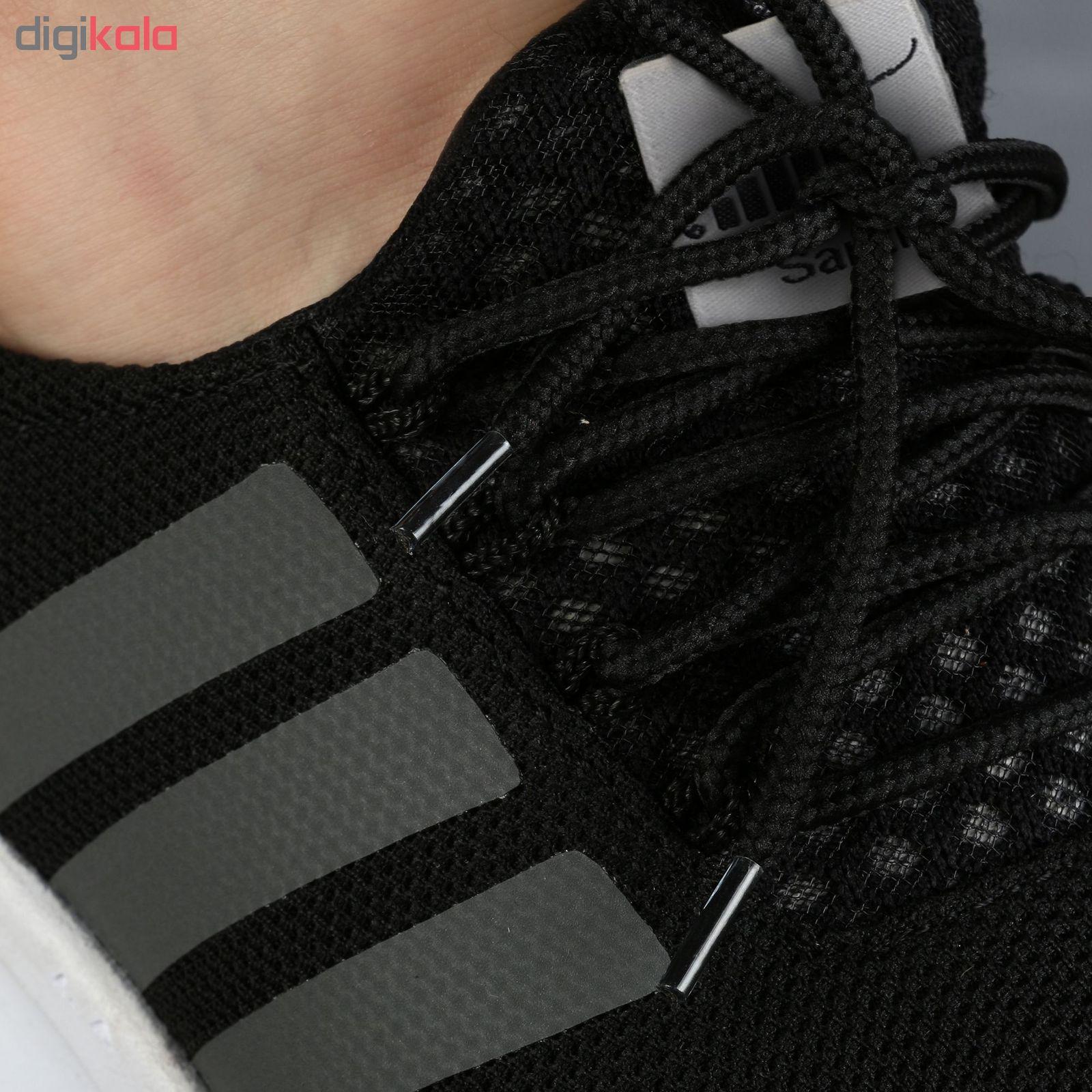 کفش ورزشی مردانه سه خط مشکی مدل rzai main 1 6