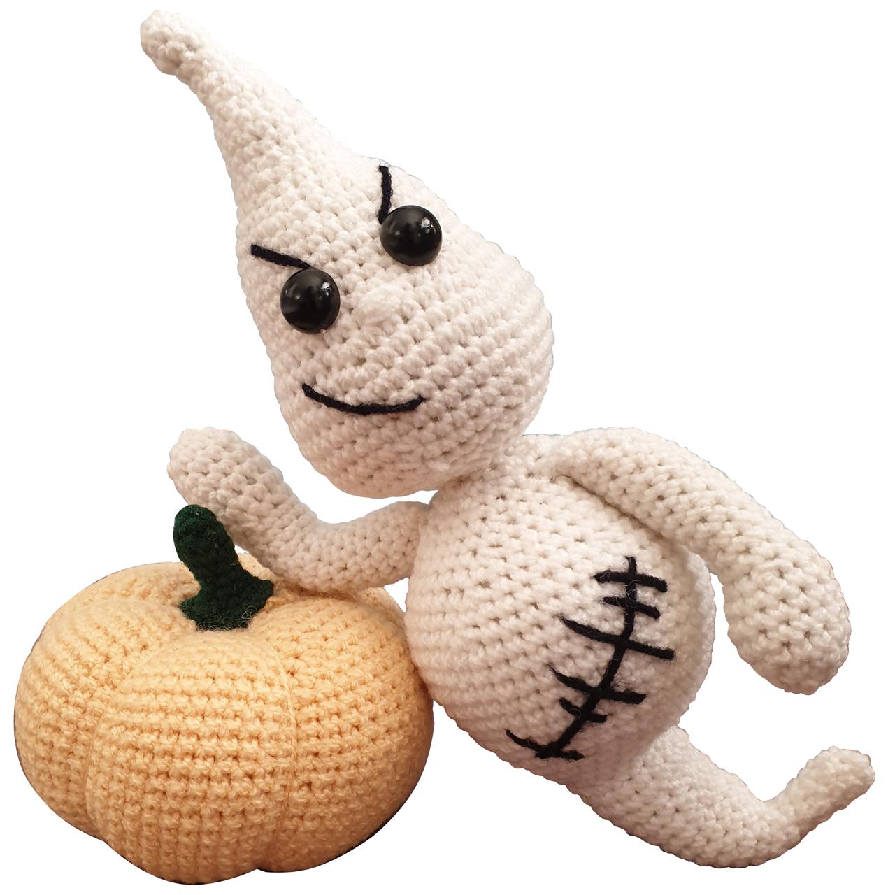 خرید                        عروسک بافتنی طرح هالوین کد 0116