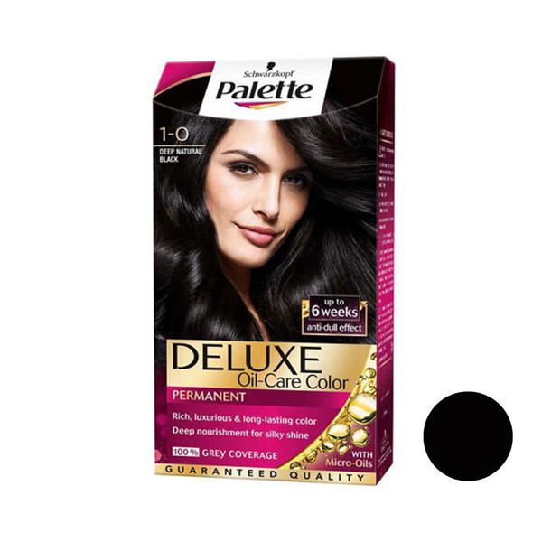 کیت رنگ مو پلت سری DELUXE شماره 0-1 حجم 50 میلی لیتر رنگ مشکی