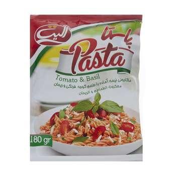 پاستا نیمه آماده الیت با طعم گوجه فرنگی و ریحان - 180 گرم