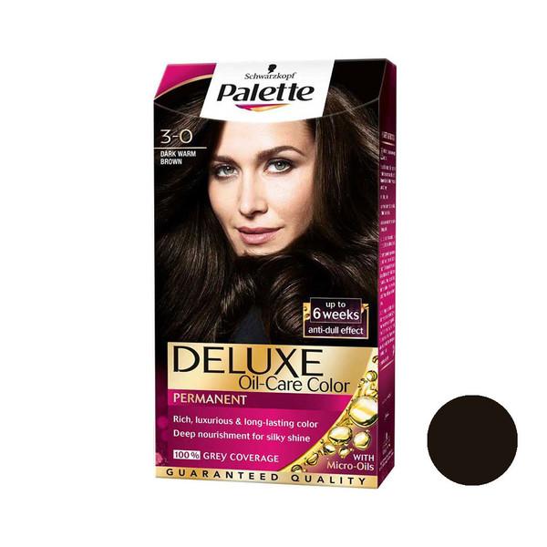 کیت رنگ مو پلت سری DELUXE شماره 0-3 حجم 50 میلی لیتر رنگ قهوه ای تیره