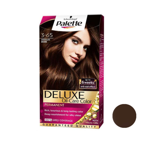 کیت رنگ مو پلت سری DELUXE شماره 65-3 حجم 50 میلی لیتر رنگ شکلاتی تیره