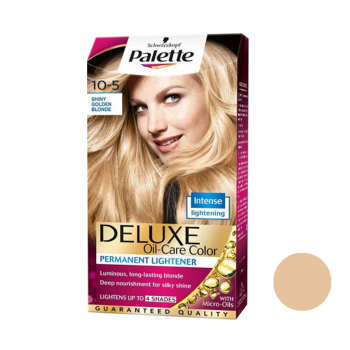 کیت رنگ مو پلت سری DELUXE شماره 5-10 حجم 50 میلی لیتر رنگ بلوند طلایی خیلی روشن