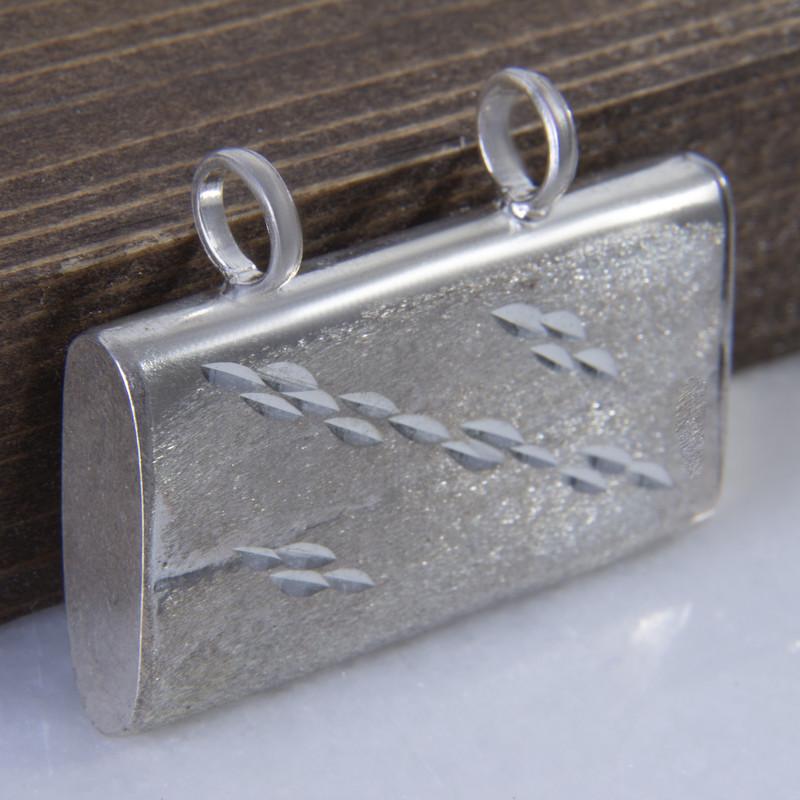 آویز گردنبند نقره زنانه بازرگانی میلادی  کد PKD_024