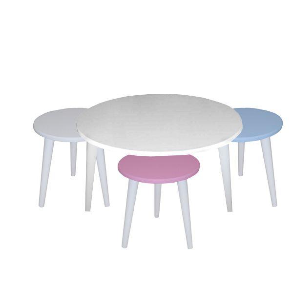 میز پذیرایی مدل نیلو کد 03 مجموعه 4 عددی