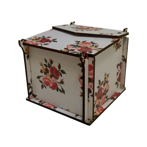 جعبه ساعت طرح Flower کد 01