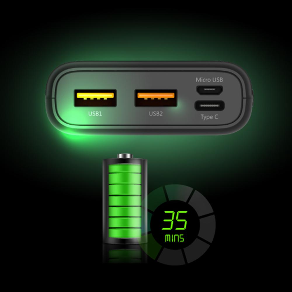 شارژر همراه سیلیکون پاور مدل C10QC ظرفیت 10000 میلیآمپرساعت main 1 4